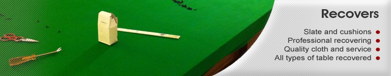 pool table recovers and snooker table recovers